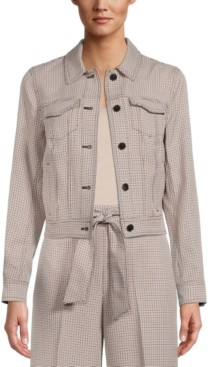 Bar III Plaid Button-Front Jacket, Created for Macy's