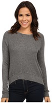 Allen Allen Long Sleeve Crop Open Crew