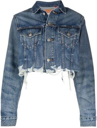 Denimist Cropped Distressed Effect Jacket