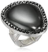 T Tahari Grey Hematite Ring, Size 7-9