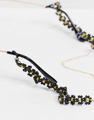 ASOS DESIGN sunglasses chain in daisy beads