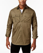 Sean John Men's Double Pocket Flight Shirt