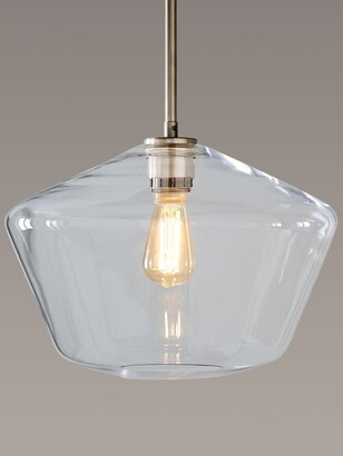 west elm Sculptural Glass Geo Ceiling Light, Large, Clear