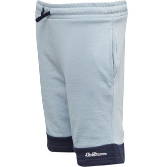 Boy/'s Ben Sherman Junior Script LB Sweat Shorts in Blue