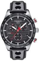 Tissot PRS 516 Chronograph Leather Strap Watch, 42mm