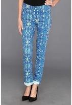 Calvin Klein Jeans Pop Ikat Ultimate Skinny Ankle Roll in Ultra Blue (Ultra Blue) - Apparel