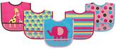 Luvable Friends Pink Elephant Waterproof Bib - Set of Five