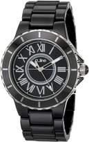 A Line a_line Women's 20040-BKBSR Marina Textured Dial Ceramic Watch