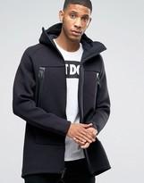 Nike Tech Fleece Longline Jacket With 3m Detail In Black 805142-010