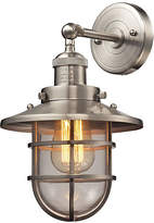 One Kings Lane Seaport 1-Light Sconce - Satin Nickel