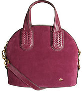 Oryany As Is Italian Suede Domed Satchel - Nadine