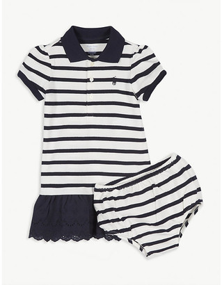 Ralph Lauren Striped cotton polo dress and knickers set 3-24 months