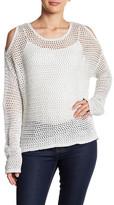 John & Jenn Cold-Shoulder Crochet Pullover