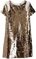 Trixxi Sequin Gold Dress (Big Girls)