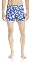 Parke & Ronen Men's 4 Inch Mykonos Printed Swim Trunk