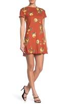 GOOD LUCK GEM Print Short Sleeve Dress