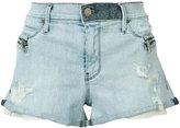 RtA Vincent hip zip short - women - Cotton/Polyurethane - 25