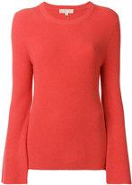MICHAEL Michael Kors flared sleeve top - women - Nylon/Polyester/Spandex/Elastane/Cashmere - XS