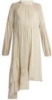 Tibi Ruffled asymmetric-hem dress