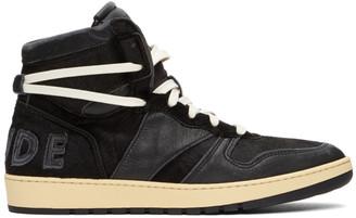 Rhude Black Rhecess Hi Sneakers