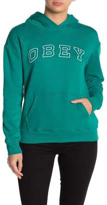 Obey Core Varsity Hooded Pullover Sweater