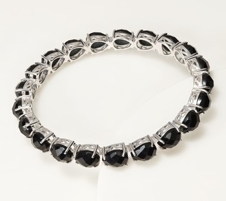 Generation Gems Pear Gemstone Slip On Bangle Bracelet Sterling Silver
