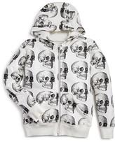 Nununu Boys' Skull Print Hoodie - Sizes 2-9