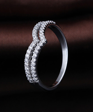 Swarovski Amy And Annette Amy and Annette Women's Rings Silver - Sterling Silver Minimalist Ring With Crystals