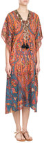 Figue Embellished Silk Kaftan Dress