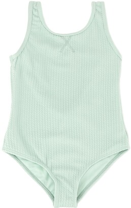 Duskii Girl Aya textured swimsuit