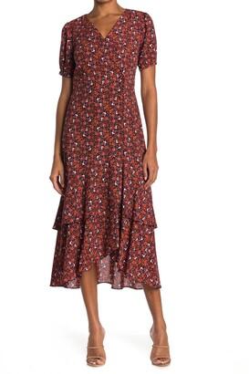 Nanette Nanette Lepore Floral Puff Sleeve Wrap Dress