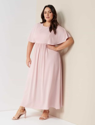 Forever New Cara Curve Glam Cape Gown - Blush - 16