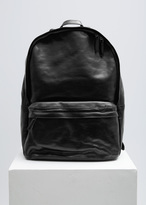 Dries Van Noten Black Leather Backpack