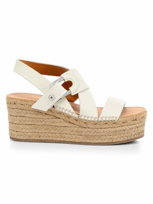 Rag & Bone August Leather Wedge Platform Espadrille Sandals