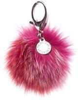 Rebecca Minkoff Women's Multi Fur Pom Pom Keyring Red Multi
