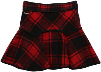 DSQUARED2 Plaid Wool Blend Skirt