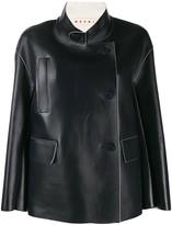 Marni stand collar boxy-fit jacket