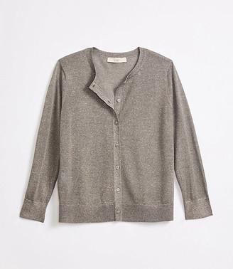 LOFT Petite Shimmer 3/4 Sleeve Cardigan