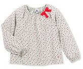 Petit Bateau Girls flower print blouse in jersey stockinette