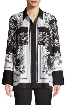 Jones New York Scarf-Print Long-Sleeve Tunic