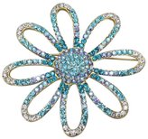 Shoppe23 Large Flower Brooch Pin Hair Jewelry Austrian Crystal Wedding Jewelry (Something )