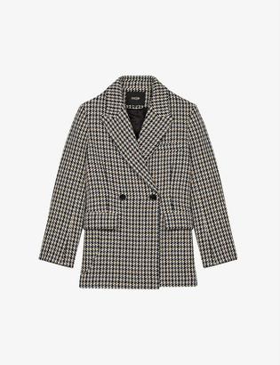 Maje Golda double-breasted wool-blend jacket