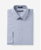Express Modern Fit Micro Print Dress Shirt