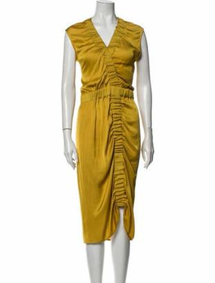 Zero Maria Cornejo V-Neck Midi Length Dress w/ Tags Yellow