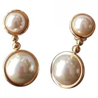 Christian Dior Beige Pearls Earrings