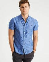 American Eagle Outfitters AE Print Short Sleeve Poplin Shirt