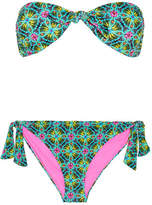 Matthew Williamson Printed Bandeau Bikini - Green