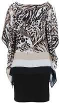 Wallis Animal Print Stripe Overlay Dress