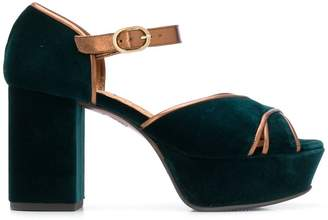 Chie Mihara two tone platform sandals
