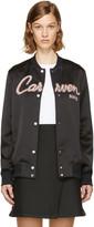 Carven Black Teddy Varsity Jacket